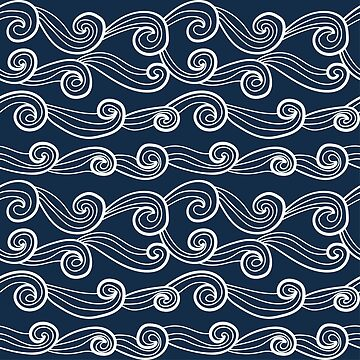 Decorative pattern with abstract waves. by SomStock