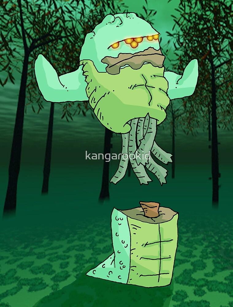 lil' zombie serpent: jungle scene... by kangarookid