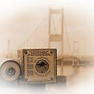 The old Severn Bridge towards Wales by David Carton