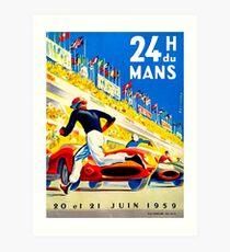 """""""MANS"""" 24 Stunden Grand Prix Autorennen Kunstdruck"""