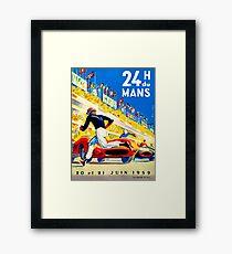 """MANS"" 24 Hour Grand Prix Auto Race Framed Print"