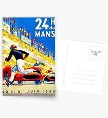 """""""MANS"""" 24 Stunden Grand Prix Autorennen Postkarten"""