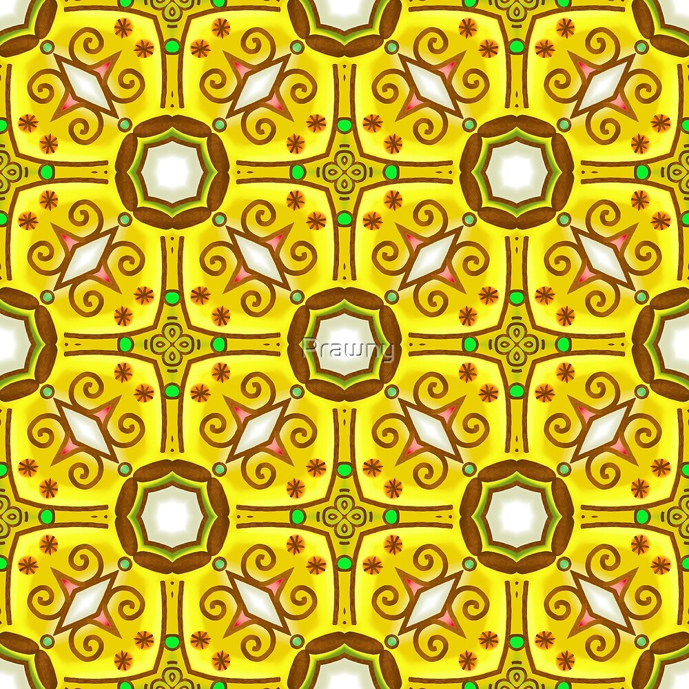 Pretty Gold and Yellow Abstract Wallpaper Pattern by Prawny