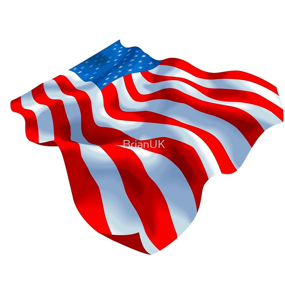 USA wavy flag  by BrianUK