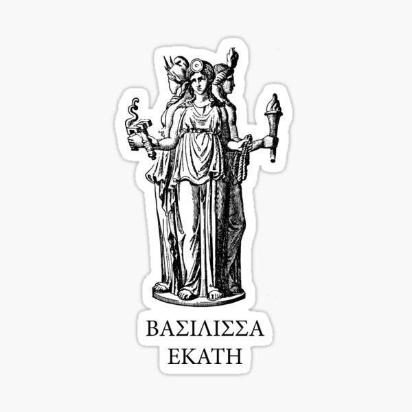 Hekate, goddess of witchcraft Sticker