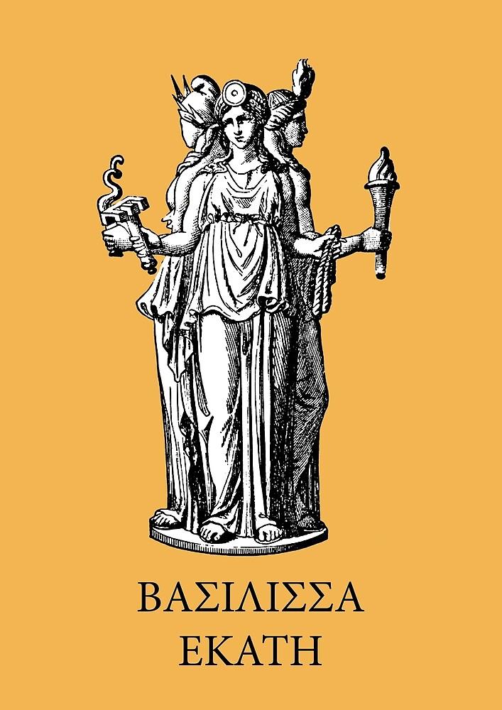 Hekate, goddess of witchcraft by Alexandhros