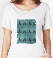 Snow landscape on arctic blue Women's Relaxed Fit T-Shirt
