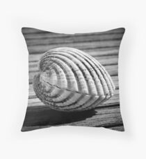 Sea shell on wood Floor Pillow