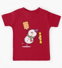 Cute Snowman with Gift and Candy Kids Clothes