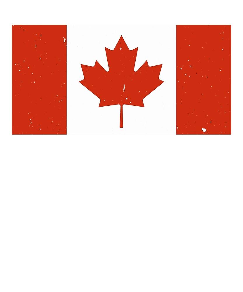 Canada Flag T-Shirt for Men and Women by AllStarMerch