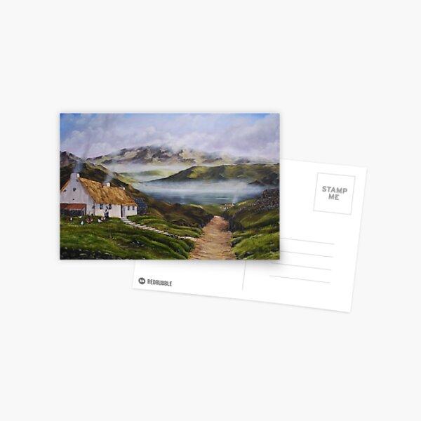 Irish Morning Mist - Oil Painting Postcard