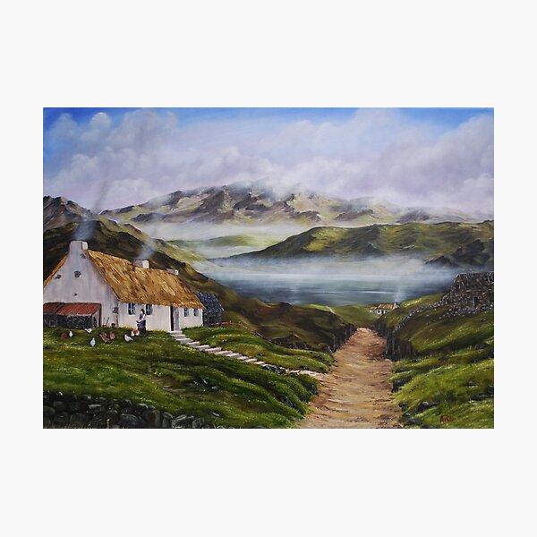 Irish Morning Mist - Oil Painting Photographic Print