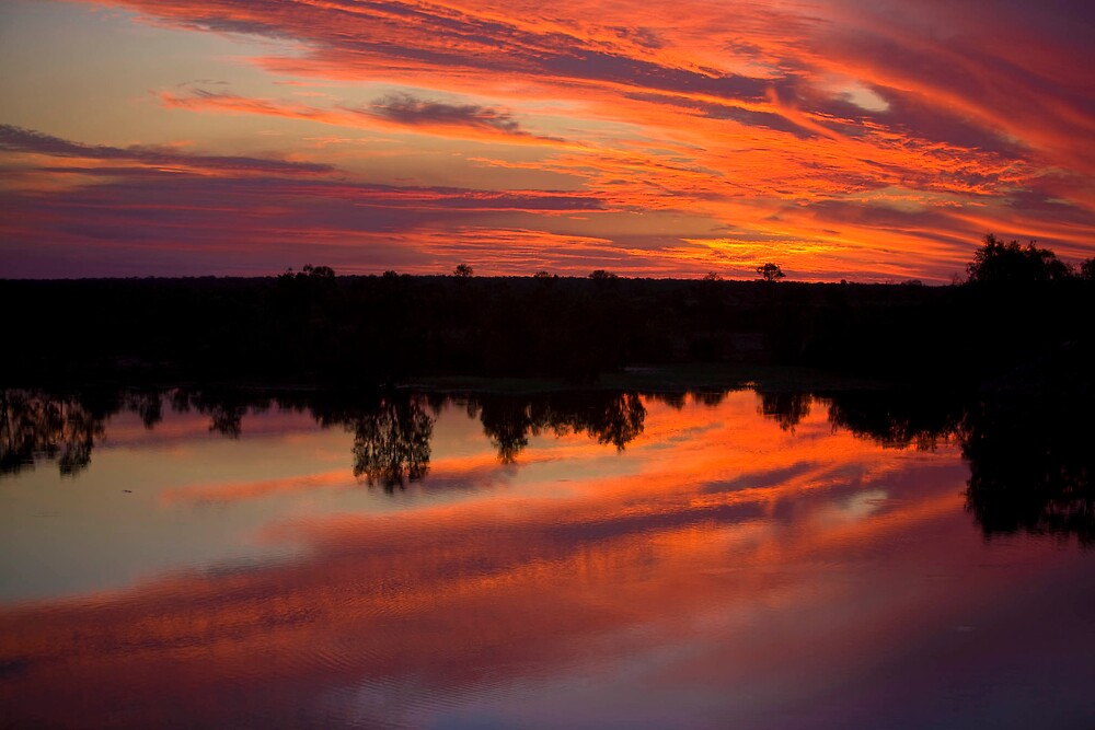 Fitzroy River sunset 2  WA by robertb
