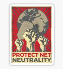 Support Net Neutrality Vintage Poster Sticker