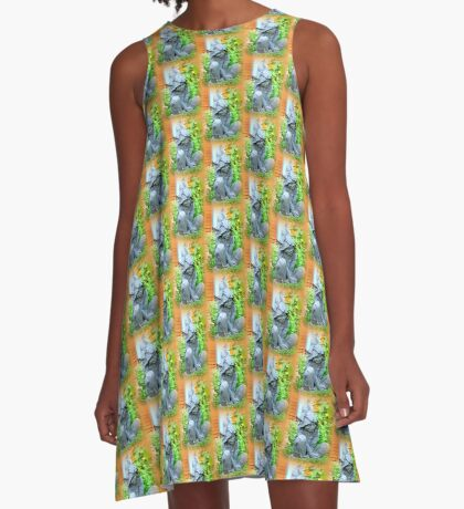 Happy Garden Elf A-Line Dress