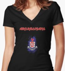 Airdrie Maiden Women's Fitted V-Neck T-Shirt
