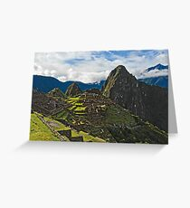 Machu Picchu Archeological site in Peru Greeting Card