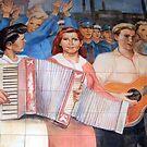East German Socialist Mural, Berlin by David Carton