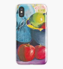 Blue Bird with Apples iPhone Case/Skin