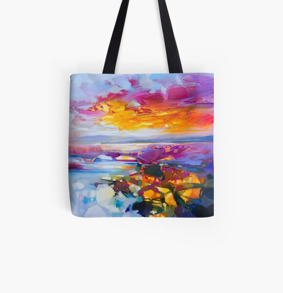Uist Causeways 3 All Over Print Tote Bag