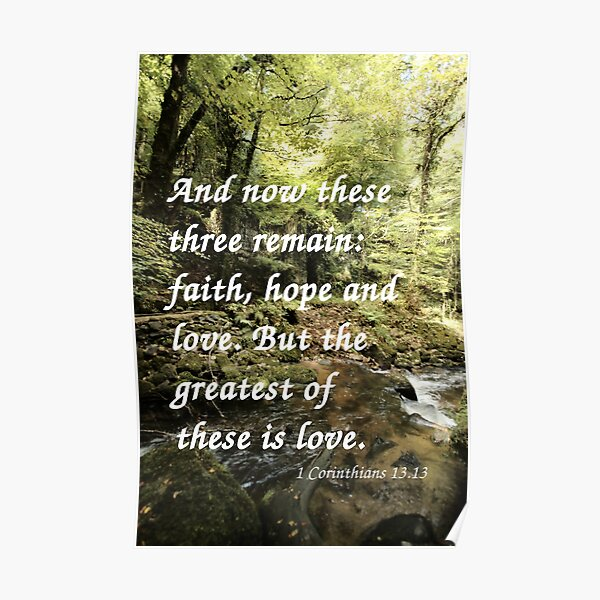 Faith, Hope, and Love Poster