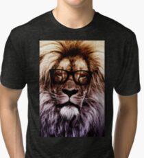 Hipster lion Tri-blend T-Shirt