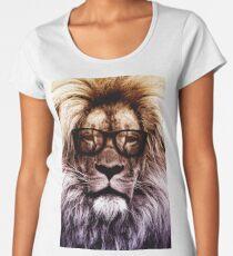 Hipster lion Women's Premium T-Shirt
