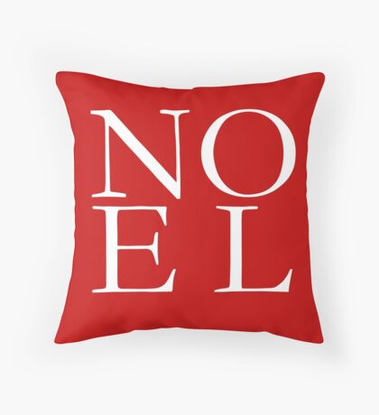 NOEL Red Christmas Pillow, Tote, Cards Throw Pillow