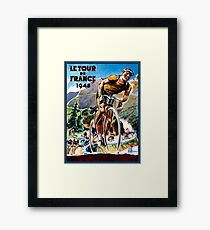 TOUR DE FRANCE; Vintage Bicycle Racing Advertising Print Framed Print