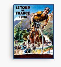 TOUR DE FRANCE; Vintage Bicycle Racing Advertising Print Canvas Print