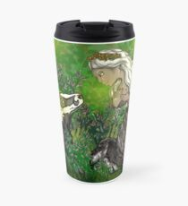 """Wolf Centaur and Badger Friend"" Original Design Travel Mug"