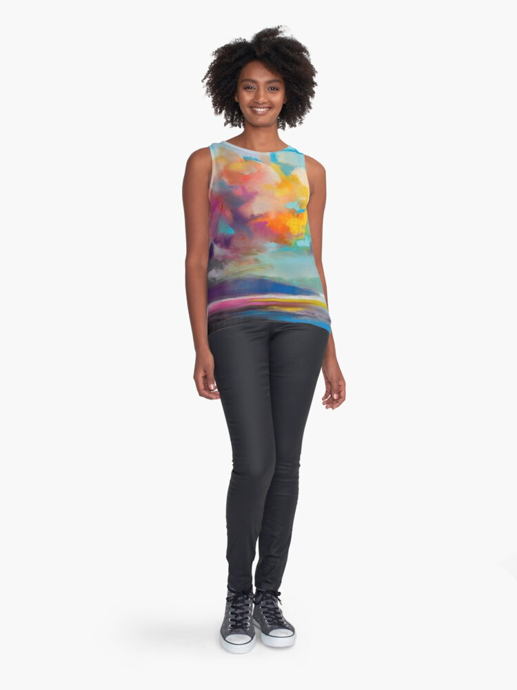Alternate view of Vapour Sleeveless Top