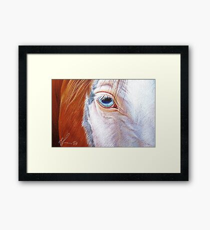 Paint close-up Framed Print