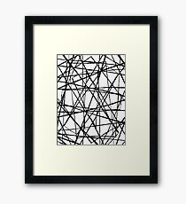 Wire Barrier Framed Print