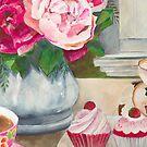 Grandma's Teacup and Wattlebird by Daniela Glassop