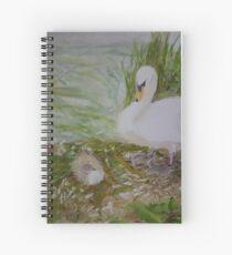 Swan and Cygnet Spiral Notebook