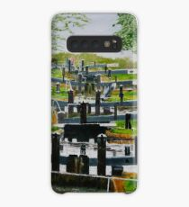 Looking down Audlem locks from lock No. 8 Case/Skin for Samsung Galaxy