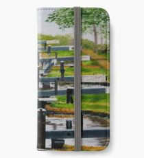 Looking down Audlem locks from lock No. 8 iPhone Wallet/Case/Skin
