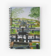 Looking down Audlem locks from lock No. 8 Spiral Notebook