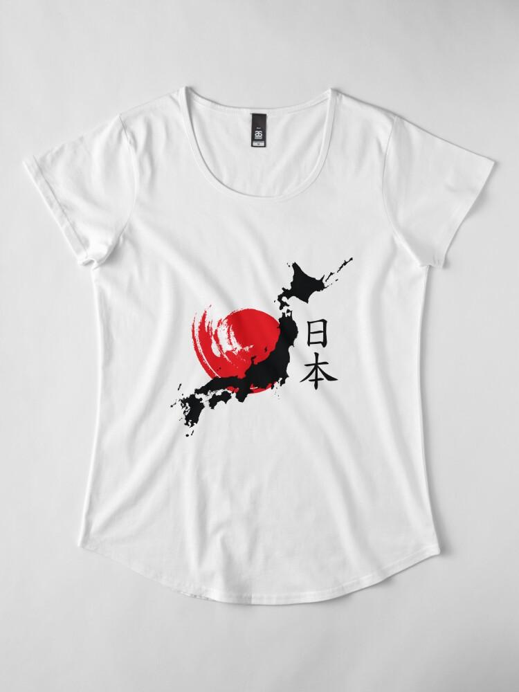 Alternative Ansicht von Japan Premium Rundhals-Shirt