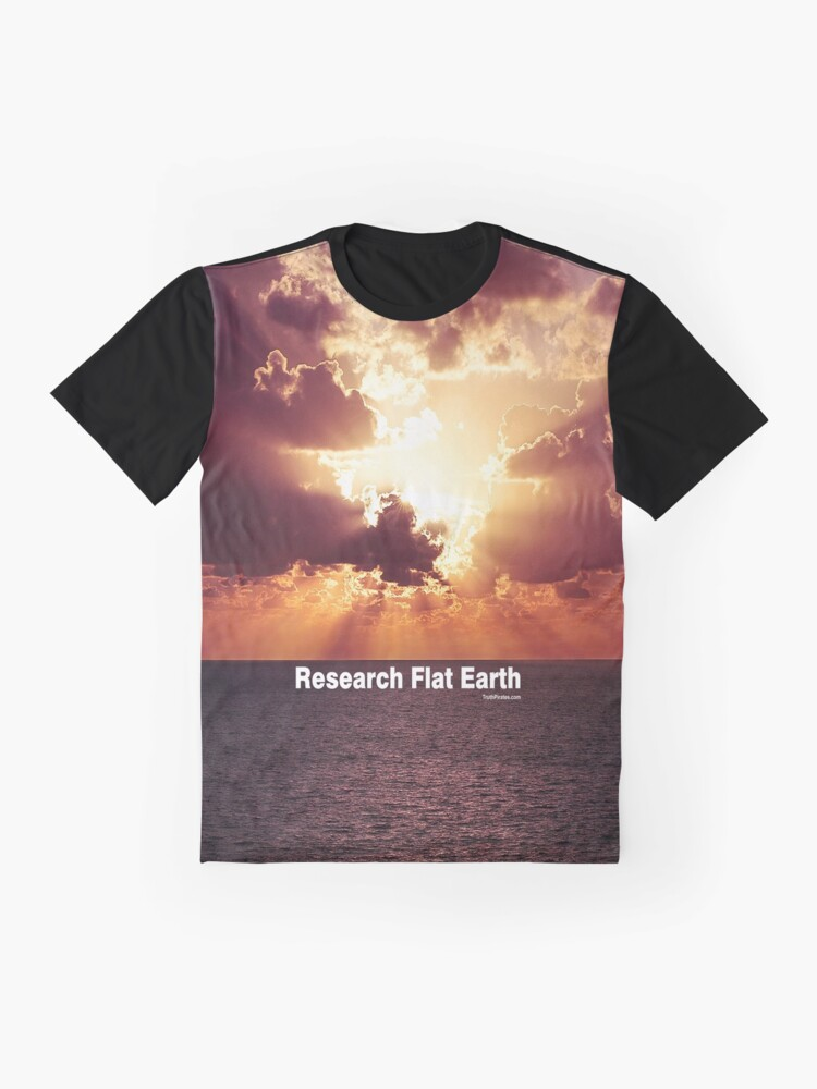 Alternate view of Research Flat Earth Graphic T-Shirt