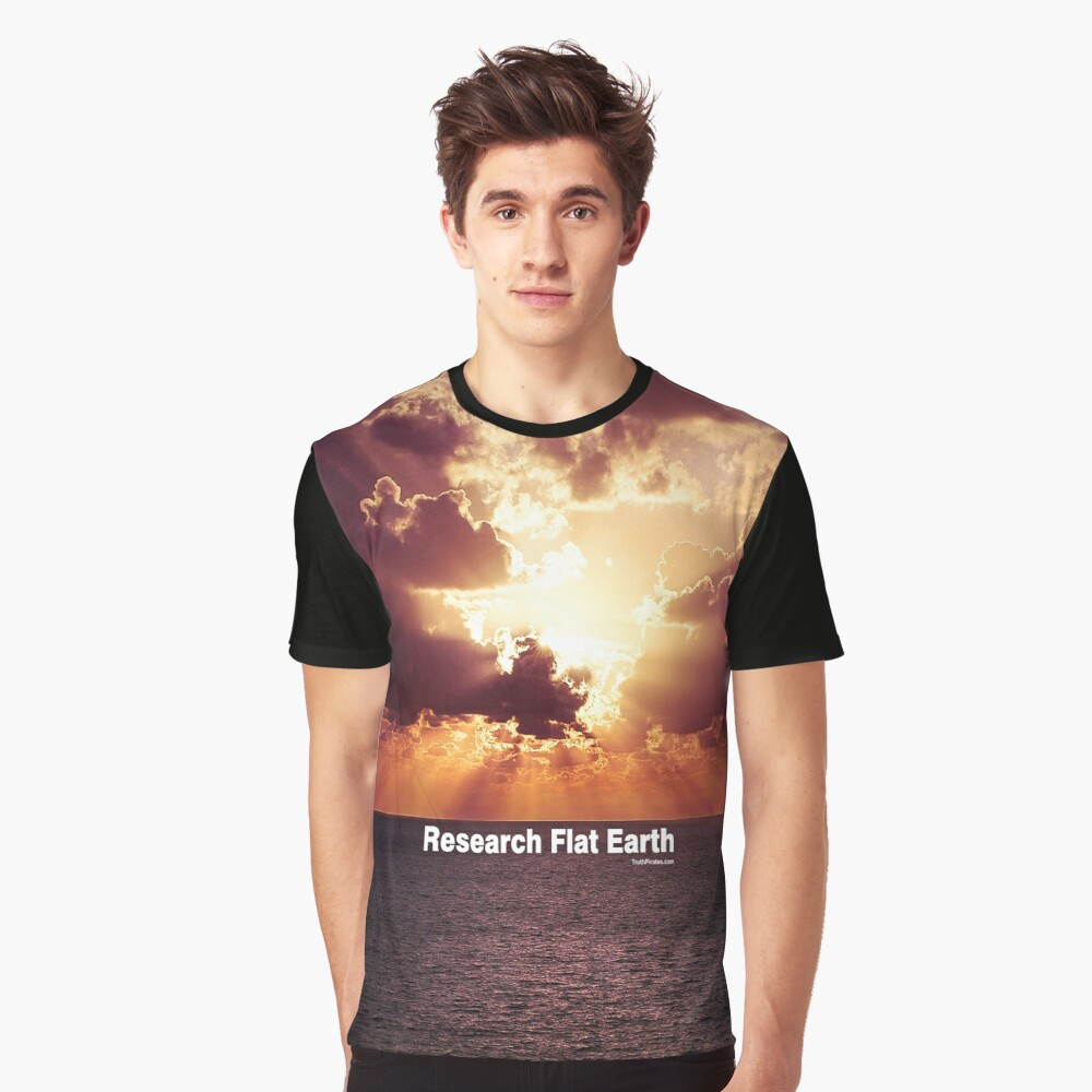 Research Flat Earth Graphic T-Shirt
