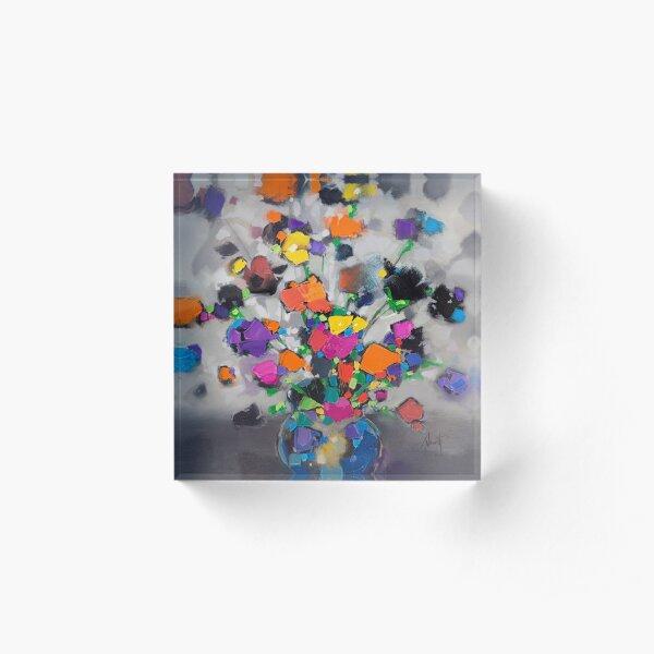 Floral Spectrum 1 Acrylic Block