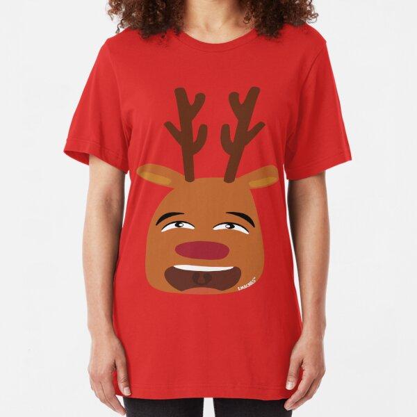 Reindeer Emoji Christmas Short-Sleeve Unisex T-Shirt