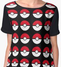 pokemon- pokeball Chiffon Top