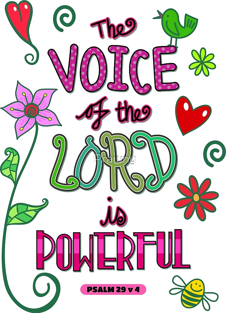 The Voice of the Lord is Powerful - Bible Scripture by Prawny
