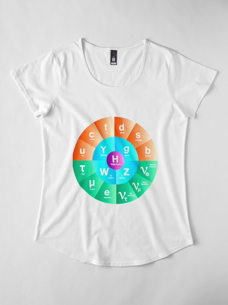 Alternate view of The Standard Model of Particle Physics Premium Scoop T-Shirt