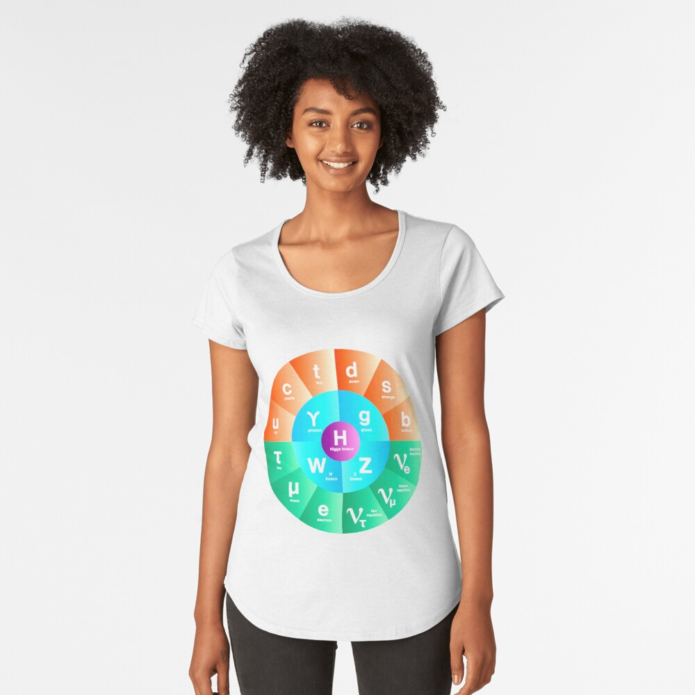 The Standard Model of Particle Physics Premium Scoop T-Shirt