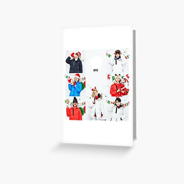 bts christmas Greeting Card