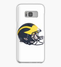 Wolverines Winged Football Helmet Samsung Galaxy Case/Skin